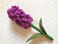 Вязаные цветы для украшения интерьера — гиацинт крючком