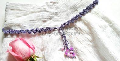 Модный ажурный пояс крючком — вяжем за 1 вечер