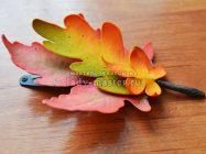 Как сделать стильную заколку с осенними листьями своими руками