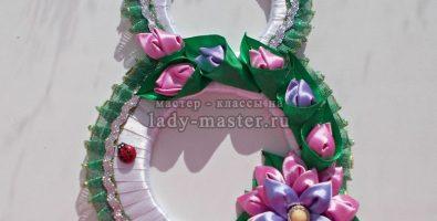 Стильный подарок на 8 марта — восьмерка канзаши