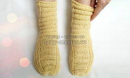 Как связать теплые носочки спицами без вывязывания пятки
