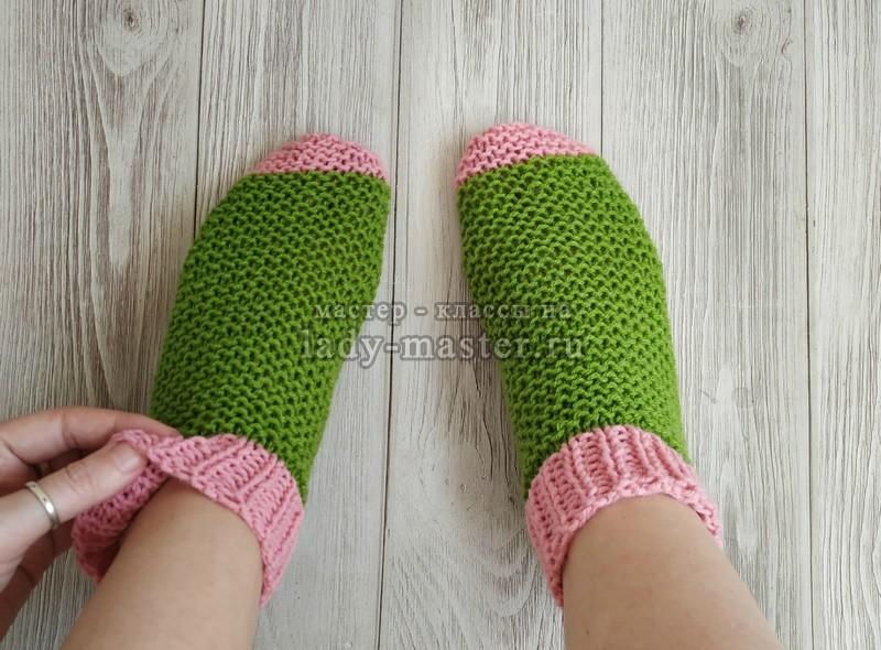 Носки на двух спицах — быстро и просто!