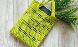 Модная летняя сумка крючком