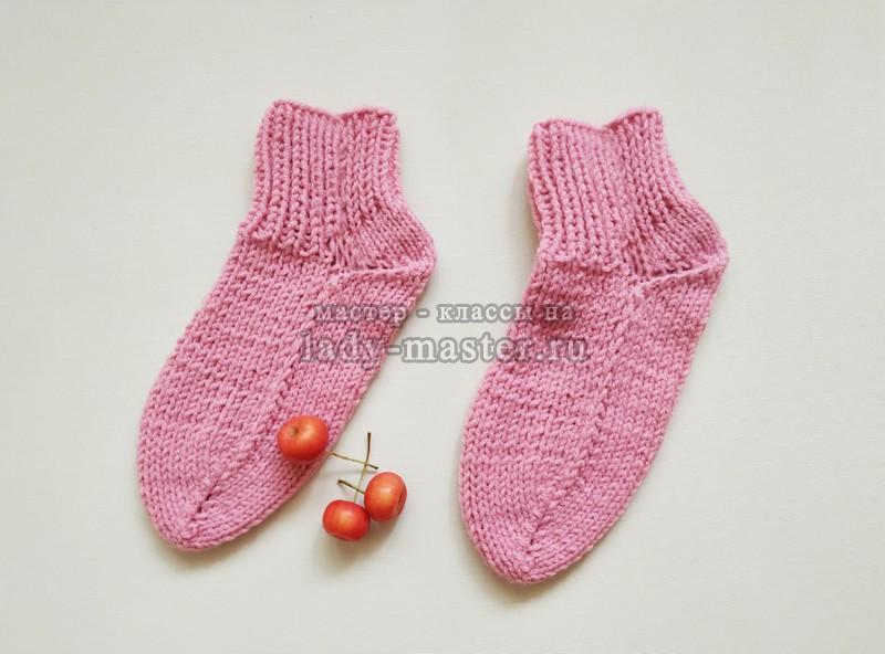 Простые носочки на 2 спицах