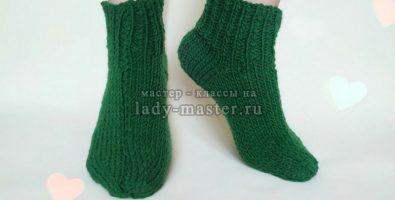 Как связать носки классические на 2-х спицах