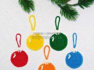 Елочный шар крючком — схема и описание вязания