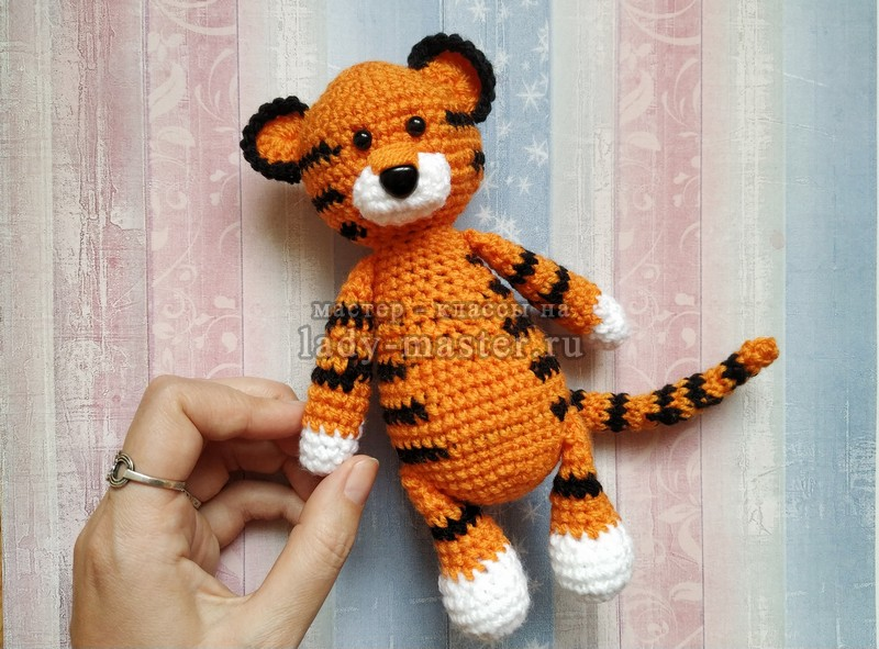 Тигр крючком (символ 2022 года) — описание вязания