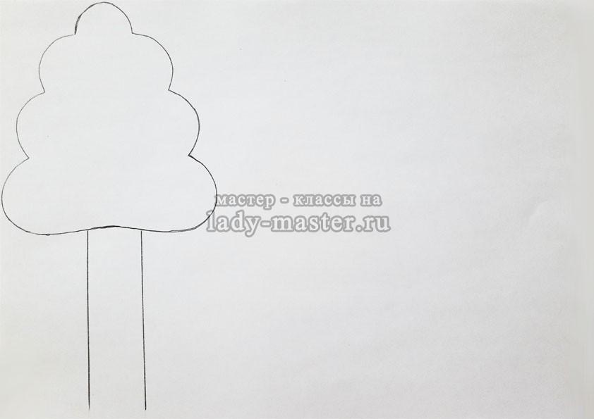 шаблон осеннего дерева