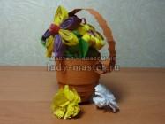Мастер — класс по квиллингу: изготовление цветочной корзинки