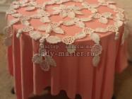Красивая воздушная скатерть (салфетка) крючком из цветочных мотивов