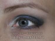 Макияж для вечеринки влажным способом для серых глаз