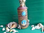 МК «Бутылка в морском стиле»
