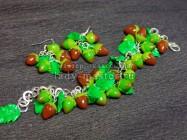 Лесные орешки (фундук) из полимерной глины. Создание комплекта бижутерии из запекаемой термопластики