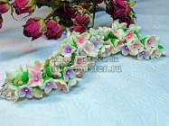Нежные цветочки из полимерной глины. Красивое украшение своими руками