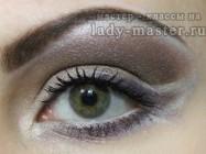 Макияж в шоколадных тонах для серых и серо — зеленых глаз