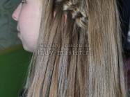 Прическа «водопад» для длинных волос