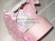 Открытка-колясочка для новорожденной девочки