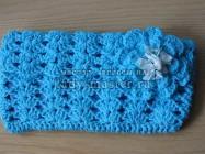 Голубая летняя сумочка-клатч крючком