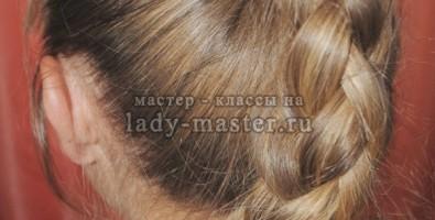 Плетение «объемная цепь» из волос — мастер-класс