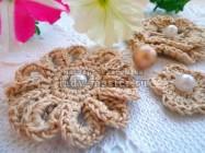 Вяжем цветы крючком для украшений