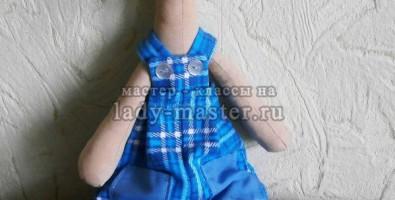 Интерьерная грушка жираф из ткани