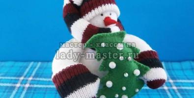 Новогодний снеговик тильда