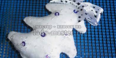Новогоднее украшение «Снежная елочка»