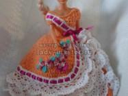 Оранжевое платье для Барби своими руками — вяжем крючком