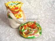 Пасхальная композиция — корзинка для яиц и салфетка своими руками