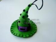 Декоративная шляпка ведьмы из фетра на Хеллоуин