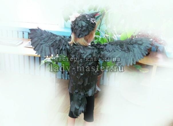 Костюм вороны для девочки своими руками
