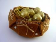 Шкатулка из фетра для мелочей или подарка своими руками