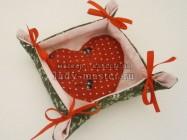 Текстильная конфетница с сердечком своими руками