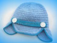 Стильная голубая кепка для мальчика