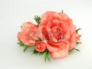 Гребень с нежными розами из фоамирана