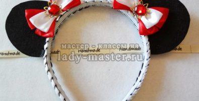 Ободок для девочек с ушками «Минни Маус»