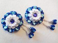 Нарядные цветочки из лент для декорирования заколок