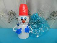 Снеговик из пластиковых ёмкостей
