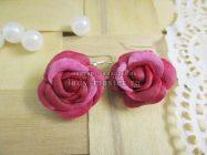 Серьги «Розы» из холодного фарфора