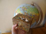 Шкатулка «Воспоминание о путешествиях»: декупаж рисовой бумагой
