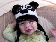 Шапочка панда для малыша крючком — мастер — класс