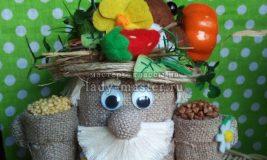 Поделка-оберег из баночки для детского питания — домовенок — солонка