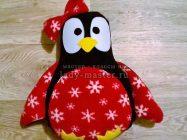 Подушка в виде симпатичного пингвина