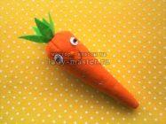 Морковка из фетра своими руками