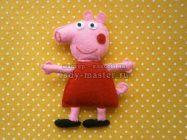 Игрушка «Свинка Пеппа» из фетра
