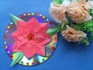 Подарок для мамы – цветок на диске