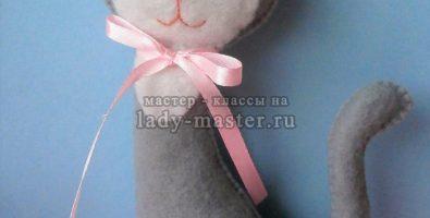 Кошечка из фетра своими руками с выкройкой