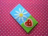 Чехол для детского телефона с ромашкой и сердечком из фетра