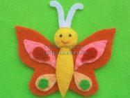 Яркая бабочка из фетра