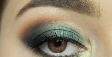 Как сделать эффектный макияж в золотисто-изумрудных оттенках — пошаговый урок